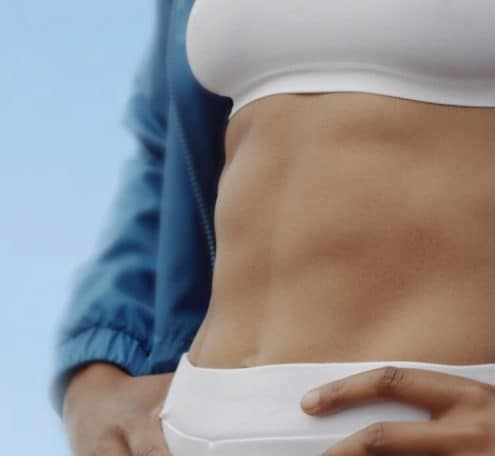 woman's toned belly